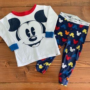 BABYGAP DISNEY Mickey Mouse 2pc Pajama Set 12-18m
